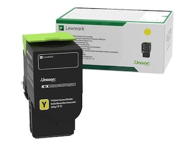 Lexmark 801SY Yellow Standard Yield Return Program Toner Cartridge, 80C1SY0, 14909602, Toner and Imaging Components - OEM
