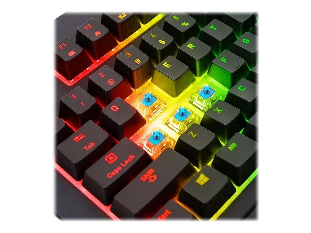 48867f44afb Thermaltake TT Premium X1 RGB Cherry MX Blue Gaming Keyboard  (KB-TPX-BLBRUS-01)