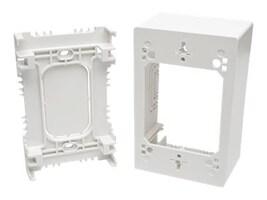 Tripp Lite Single-Gang Surface-Mount Junction Box, White, N080-SMB1-WH, 32467001, Premise Wiring Equipment