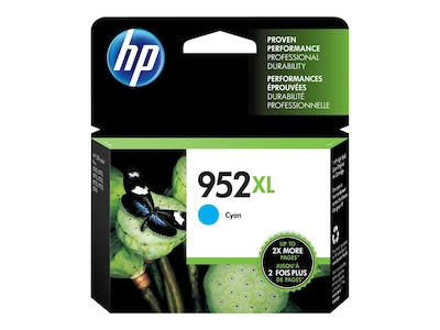 HP 952XL (L0S61AN#140) Cyan Original Ink Cartridge, L0S61AN#140, 31583499, Ink Cartridges & Ink Refill Kits