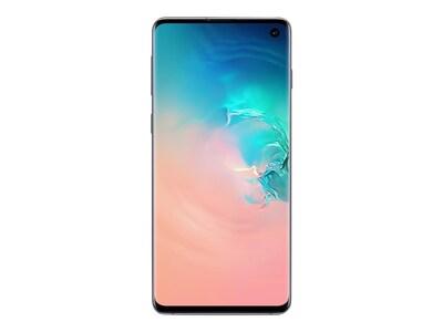 Samsung Galaxy S10 Smartphone, Prism White, 128GB (Unlocked), SM-G973UZWAXAA, 36960628, Cell Phones