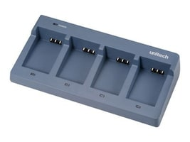 Unitech Optional PA6X 4-Bay Battery Charger with Power Supply, 5100-602218G, 7812087, Battery Chargers