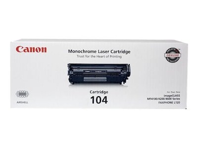 Canon Black 104 Toner Cartridge, 0263B001, 6261893, Toner and Imaging Components - OEM