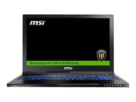 MSI WS63VR 7RL-024US Core i7-7700HQ 2.8GHz 32GB 1TB+256GB PCIe ac BT WC 3C P4000 15.6 FHD W10P, WS63VR024, 34379194, Workstations - Mobile
