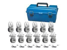 Hamilton Lab Pack, (12) HA7 Deluxe Headphones in a Carry Case, LCP/12/HA7, 21324590, Headphones