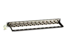 Black Box CAT6A Shielded Feed-Through Patch Panel, 24-Port, 1U, C6AFP70S-24, 33005377, Patch Panels
