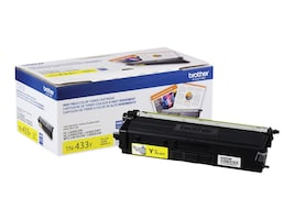Brother Yellow High Yield Toner Cartridge for HL-L8260CDW, HL-L8360CDW, HL-L8360CDWT, MFC-L8610CDW, TN433Y, 33802122, Toner and Imaging Components