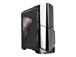 Thermaltake Chassis, Versa N21 Mid Tower 4x3.5 Bays 1x5.25 Bay 7xSlots, Black, CA-1D9-00M1WN-00, 31063864, Cases - Systems/Servers