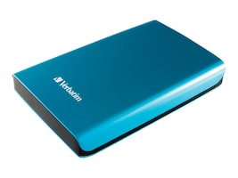 Verbatim 500GB USB 3.0 Portable Hard Drive, 97657, 16180974, Hard Drives - External