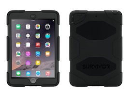 Griffin Survivor All-Terrain for iPad mini, mini 2, mini 3, Touch ID Compatible, Black Black, GB35918-3, 17700610, Carrying Cases - Tablets & eReaders