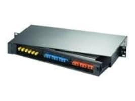 Hubbell OPTIchannel Rack Mount Panel, (24) ST-style Adapters SM MM, Loaded, FPR024STM, 263787, Patch Panels