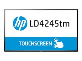 Open Box HP 41.9 LD4245tm Full HD LED-LCD Touchscreen Display, Black, F1M93AA#ABA, 18700179, Monitors - Large Format - Touchscreen/POS