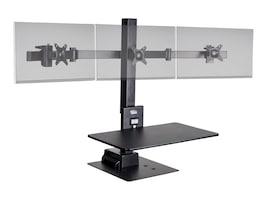 Ergotech Freedom E Stand with Triple Display Support, TAA, FDM-E-STAND-3, 36110316, Stands & Mounts - Desktop Monitors