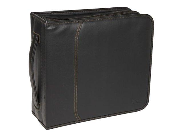 Buy case logic cd wallet 320 disc capacity black koskin for Housse case logic