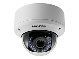Hikvision HD720P Turbo HD Outdoor Vandal Proof IR Dome Camera with 12V DC Power Supply, DS-2CE56C5T-AVPIR3, 30914428, Cameras - Security