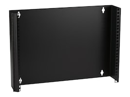 Black Box Wallmount Patch Panel Bracket, 19W, M5 Holes, 4 Deep, Hinged Lip, 8U (14H), JPM057-R2, 16301334, Mounting Hardware - Miscellaneous