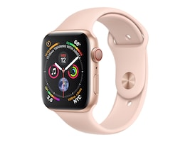 Apple Watch Series 4 GPS+Cellular, 44mm Gold Aluminum Case with Pink Sand Sport Band, MTV02LL/A, 36143636, Wearable Technology - Apple