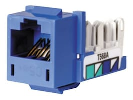 Hubbell SPEEDGAIN Xcelerator Cat5e Jacks, Blue, 25-pack, HXJ5EB25, 347398, Premise Wiring Equipment