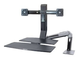 Ergotron WorkFit-A, Dual with Worksurface+, 24-316-026, 15559085, Furniture - Miscellaneous