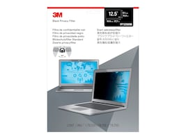3M 12.5 16:9 Widescreen Laptop Privacy Filter, PF125W9B, 32328570, Glare Filters & Privacy Screens
