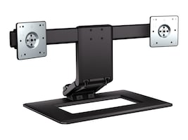HP Adjustable Dual Stand for Flat Panels up to 24, AW664AA#ABA, 11591029, Stands & Mounts - Desktop Monitors