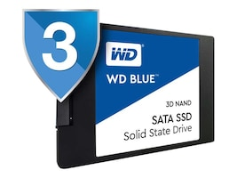 WD 250GB WD Blue SATA 6Gb s 3D NAND 2.5 7mm Internal Solid State Drive, WDS250G2B0A, 34513349, Solid State Drives - Internal