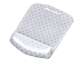 Fellowes PlushTouch Mouse Pad Wrist Rest, Gray Lattice, 9549701, 33602104, Ergonomic Products