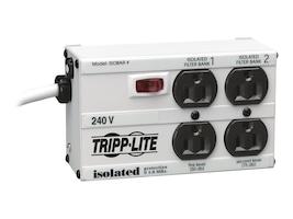 Tripp Lite SURGE ISOBAR 220V 4-NEMA 5-15  ACCS6'-CORD LIFE WRNTY 600 JOULES, IB4-6/220, 130334, Surge Suppressors