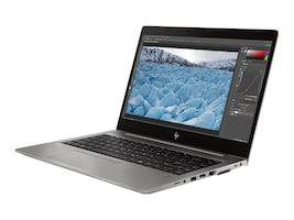 HP ZBook 14U G6 Core i5-8365U 1.6GHz 8GB 256GB PCIe ax BT FR WC WX3200 14 FHD W10P64, 7JM76UT#ABA, 37093431, Workstations - Mobile