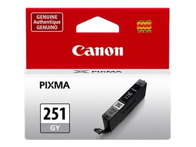Canon Gray CLI-251GY Ink Tank, 6517B001, 15186709, Ink Cartridges & Ink Refill Kits - OEM
