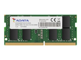 A-Data ADATA 2666 16GB SODIMM NOTEBOOK BULK PAC, AD4S2666316G19-B, 37406995, Memory
