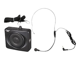 Pyle Waistband Portable PA System with A-Headset Microphone, Black, PWMA60UB, 15464094, Music Hardware