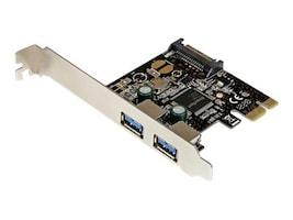 StarTech.com 2-Port PCI Express PCIe SuperSpeed USB 3.0 Controller Card w  SATA Power, PEXUSB3S23, 16079041, Controller Cards & I/O Boards
