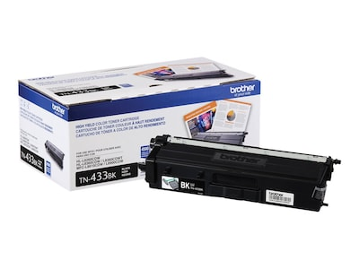 Brother Black High Yield Toner Cartridge for HL-L8260CDW, HL-L8360CDW, HL-L8360CDWT, MFC-L8610CDW, TN433BK, 33799082, Toner and Imaging Components - OEM