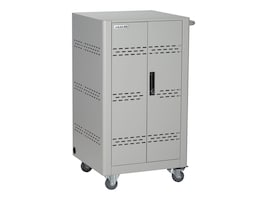 Black Box 36-Unit Chromebook, Tablet Basic Charging Cart - Hinged Door, Key Lock,, VLC36SK-HD-R2, 33975699, Computer Carts