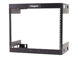 C2G Wall Mount Open Frame Rack, 8U x 18d, 125lb Capacity, Black, 14612, 30920801, Racks & Cabinets