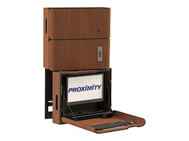 Proximity Classic Series Wall-Mounted Workstation with Right Swivel, Tilt, Medication Storage, Wild Cherry, CXT-6009-7054, 33055358, Wall Stations
