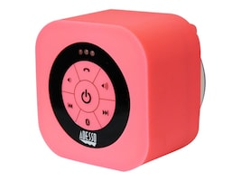 Adesso Waterproof Bluetooth Speaker - Pink, XTREAMS1P, 17456071, Speakers - Audio