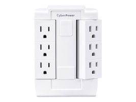 CyberPower 6-Outlet Swivel Wall Tap, GT600P, 32398041, Power Strips