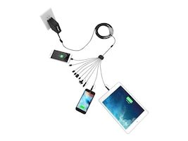 ChargeTech CHARGETECH UNIVERSAL CHARGING SQUID 10 -FEATURES 10 CHARGING CABLES: 3, CT-300058, 37259518, Power Strips