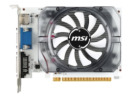 Microstar NVIDIA GeForce GT 730 PCIe 2.0 x16 Graphics Card, 2GB DDR3, N730 2GD3V3, 30722602, Graphics/Video Accelerators