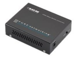 Black Box Pure Networking Gigabit Media Converter, 1000-Mbps Copper to 1000-Mbps Single-mode, 1310-nm, 15 km, LGC202A, 15132356, Network Extenders
