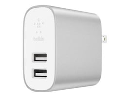 Belkin Boost Charge 2-Port USB Home Charger, White, F7U049DQSLV, 36598104, AC Power Adapters (external)