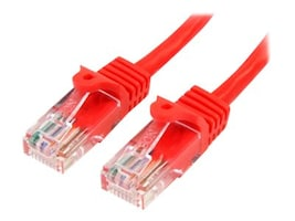 StarTech.com Cat5e Snagless Patch Cable, Red, 2ft, 45PATCH2RD, 13376816, Cables