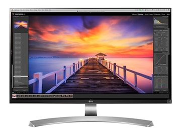 LG 27 MU88-W 4K Ultra HD LED-LCD Monitor, Silver, 27MU88-W, 32636185, Monitors