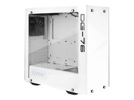 eVGA Chassis, DG-76 Alpine White Mid-Tower, 2 Sides of Tempered Glass, RGB LED and Control Board, 166-W1-2232-KR, 34890638, Cases - Systems/Servers