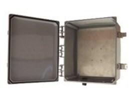 Tessco 12x10x6 Polycarbonate NEMA 4X Enclosure Solid Door MIMO, V12106-L-O-6, 8509477, Racks & Cabinets