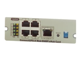 Eaton 100MB ConnectUPS Web SNMP Card for Best Dock Slot, RoHS, 116750222-001, 6870761, Battery Backup Accessories