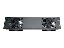Black Box Quiet Fan Panel Dual Fan, 3U, RMT079, 9638297, Rack Cooling Systems