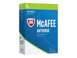 McAfee Antivirus 2017 1 PC Security Retail Box, MAB17EMB1RAA, 32618817, Software - Antivirus & Endpoint Security